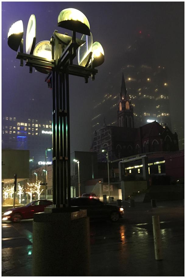 Foggy Dallas Night