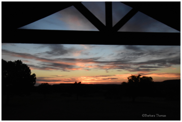 Ranch Sunset From The Porch