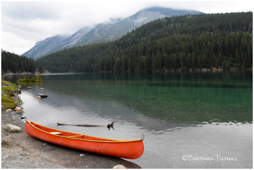 Canoe At Two Jack Lake