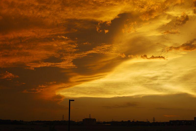 sunset sky clouds golden