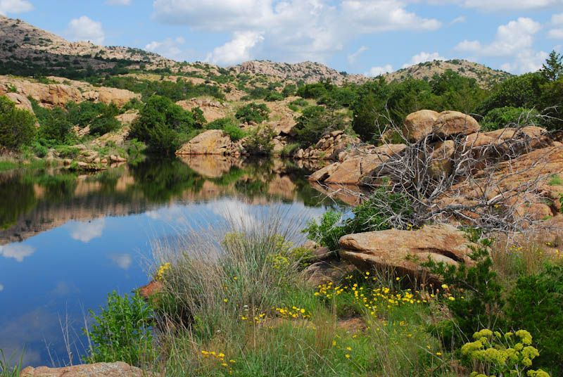 Oasis Wichita Mountains Water Lake Pond
