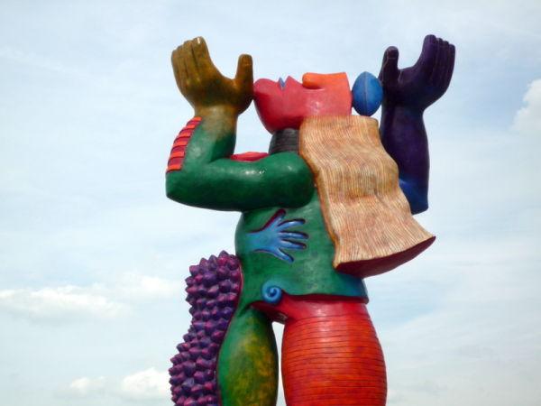 Sculpture sur la digue de Knokke-le Zoute