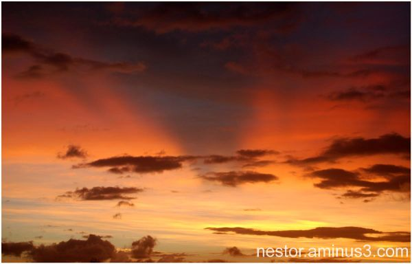 Ciel enflammé / Fire in the sky