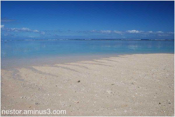 sur le sable....