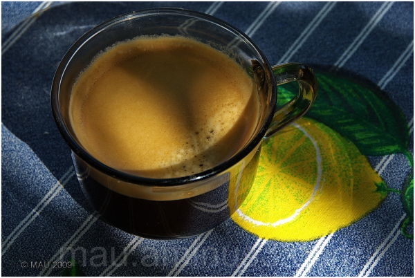 Coffee with lemon
