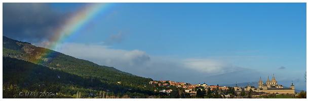 Monasterio de El Escorial con Arco Iris