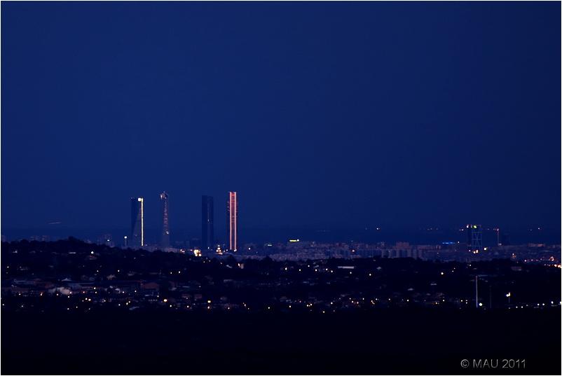 Skyline de Madrid con las Cuatro Torres