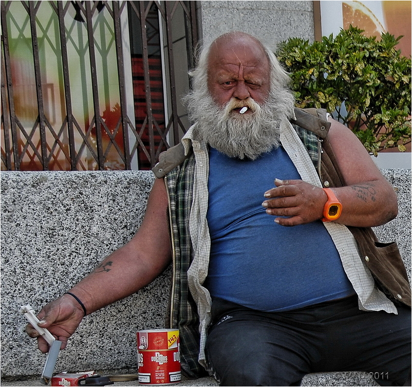 Portrai of a homeless