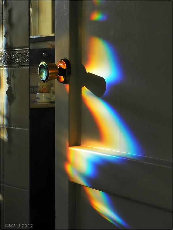 Arco iris en un espejo