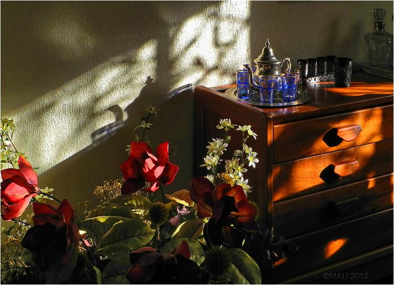 Luces y sombras en el comedor de casa