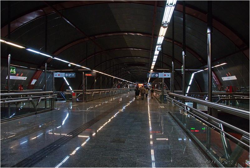 Estación de Sol, de metro y tren, en Madrid