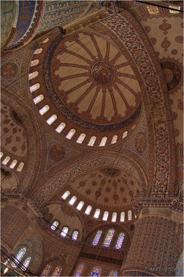 El techo de la Mezquita Azul