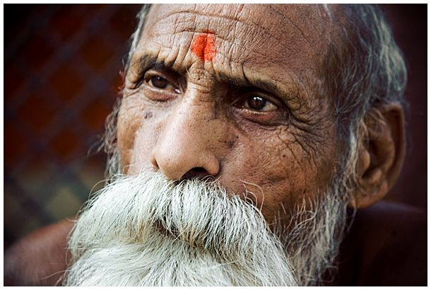 A sadhu, or holy man, in Varanasi