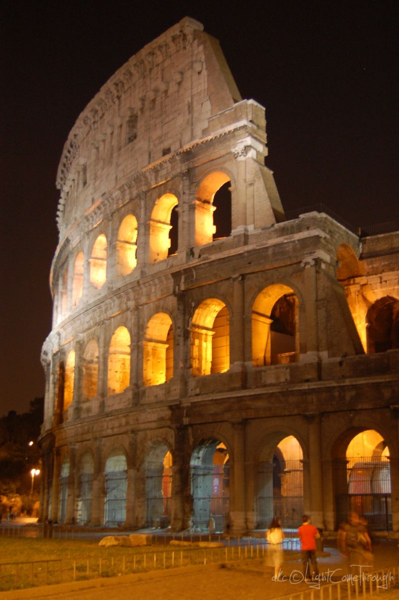 Colosseum view at night