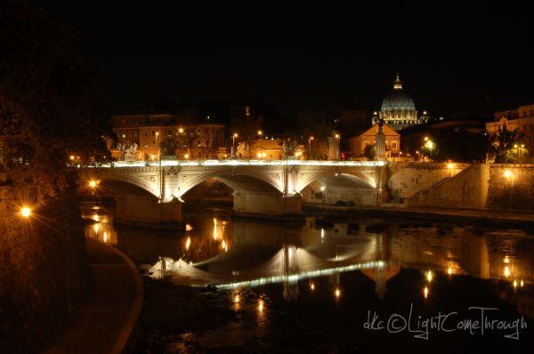 Basilica of Saint Peter at night...