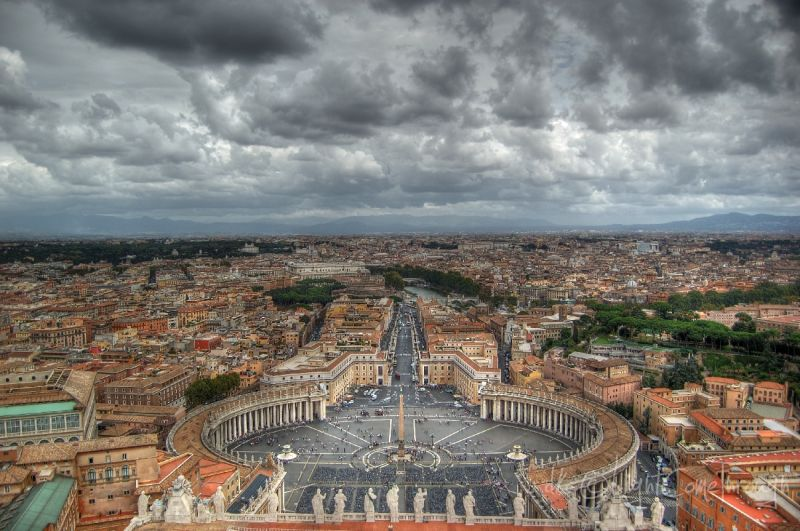 an hdr view from saint peter's basilica