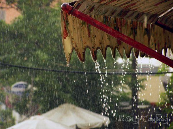 Heavy raining...