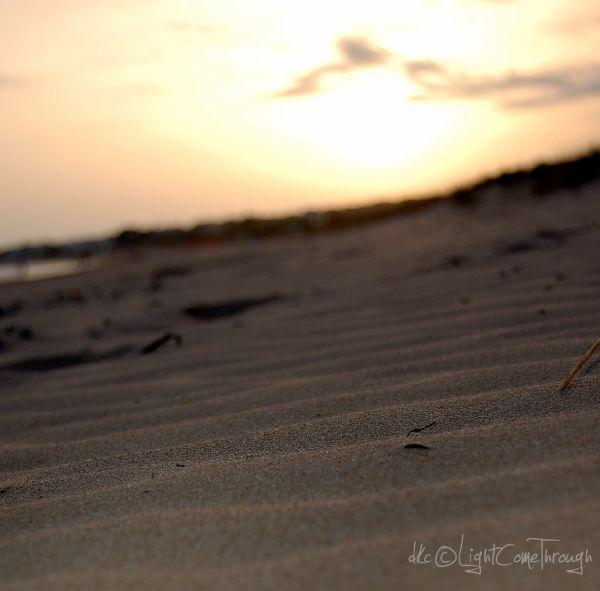 sunset on a sicilian beach