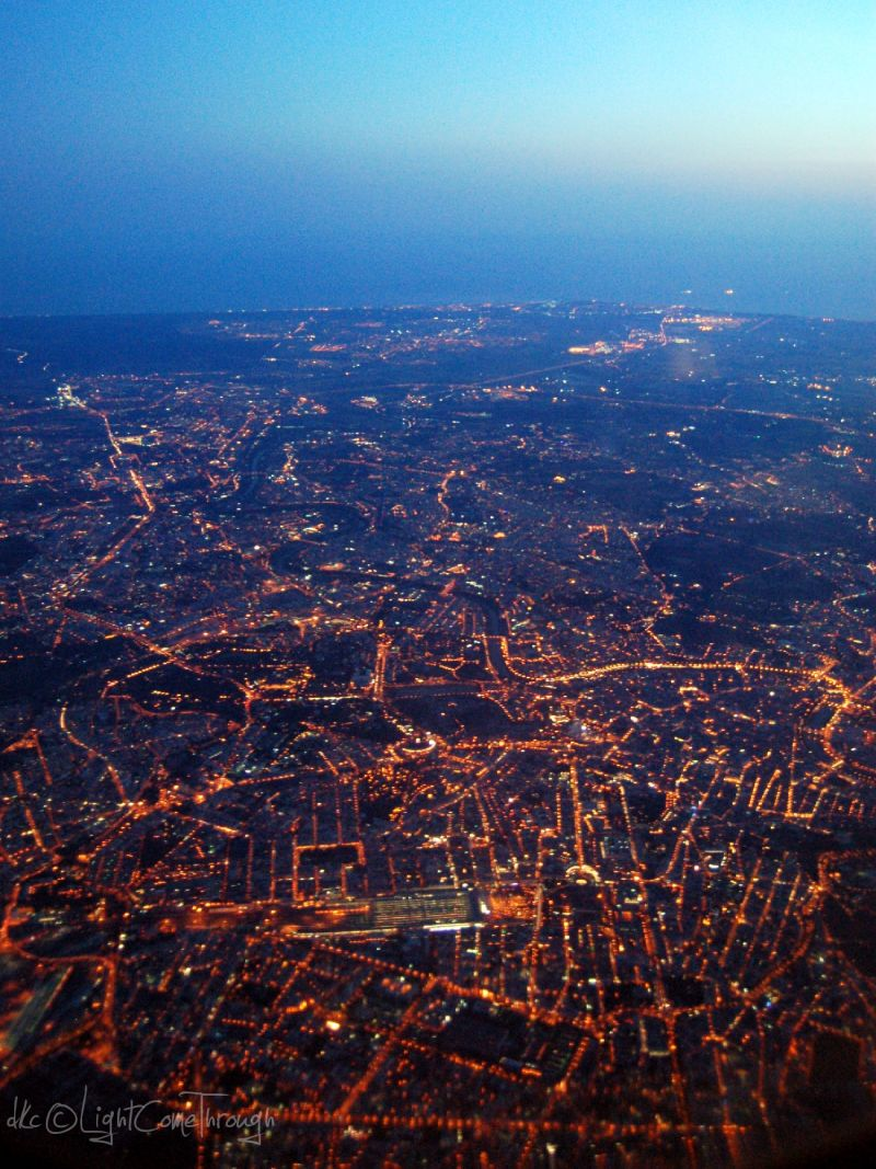 Rome from the plane