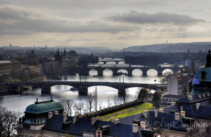 three bridges from Prague