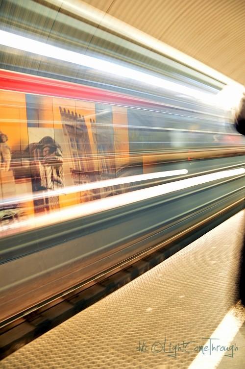 slow shutter metro in budapest