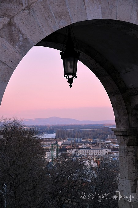 view from buda castle before the sunset