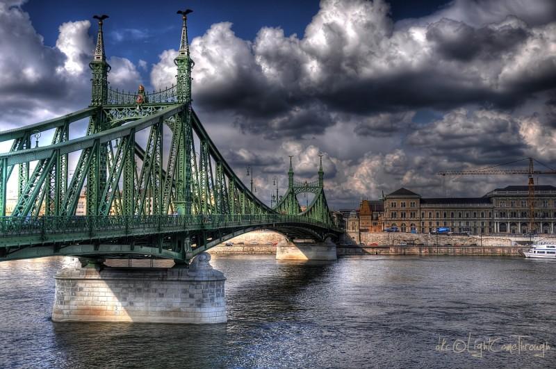 One of many bridges across Danube...