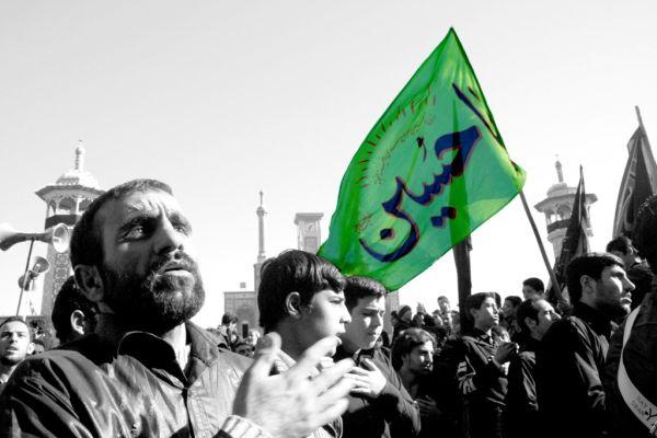 a muslim ceremonial for Imam Hossein