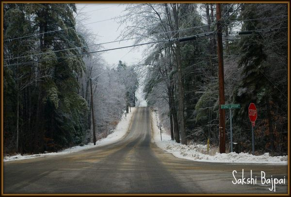 Winter Ice Storm Vermont