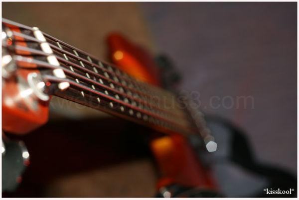 macro de guitare