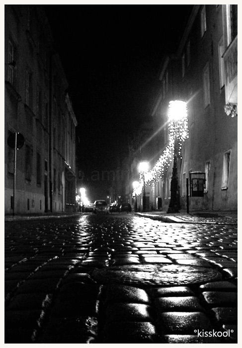 image de nuit de poznan, pologne (decembre 2008)
