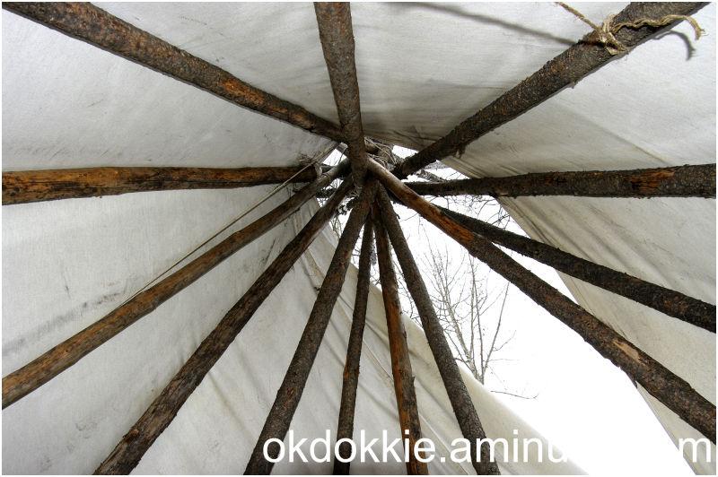 Inside Teepee Looking Up