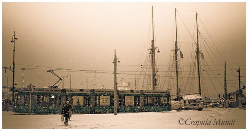 Winter in Helsinki, Kauppatori
