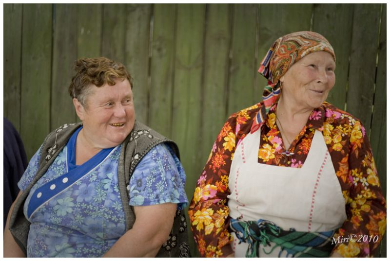 Ukrainian ladies, on the road,