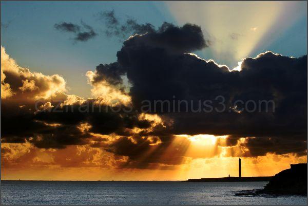 Enjoying impressive sunsets in Lanzarote