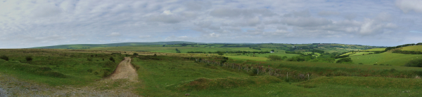 Panoramic view of Exmoor National Park