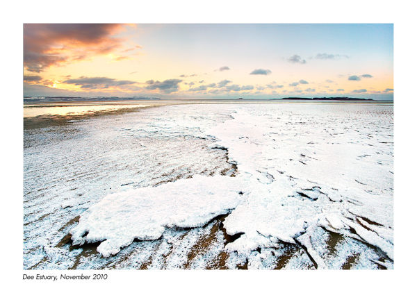 west kirby hilbre island dee estuary snow