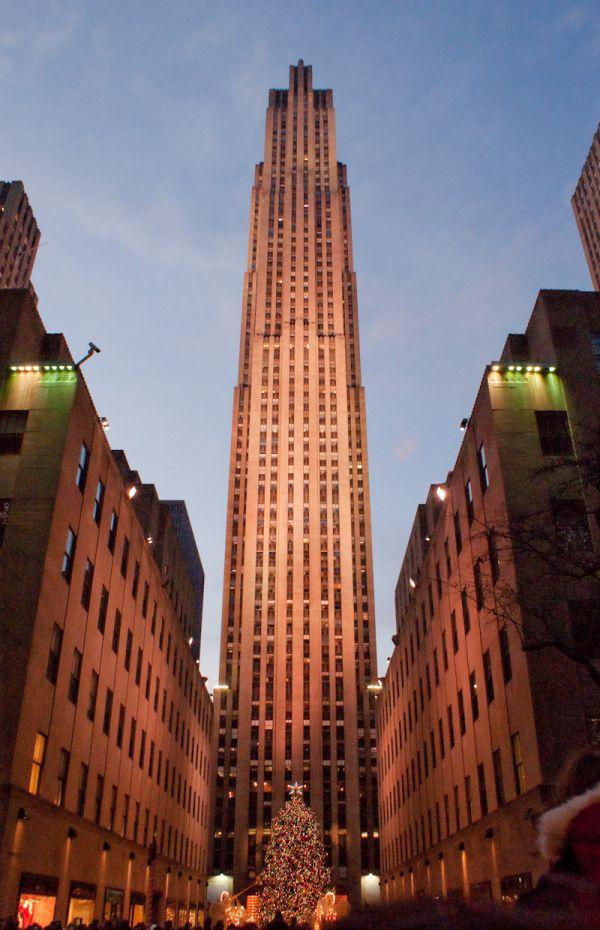 rockefeller building NY NYC new-york christmas tre