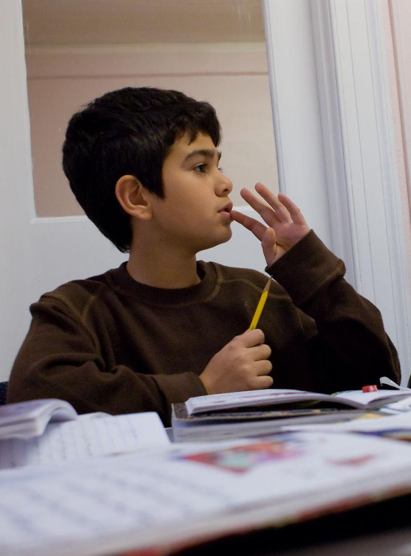 study boy school kid concentration