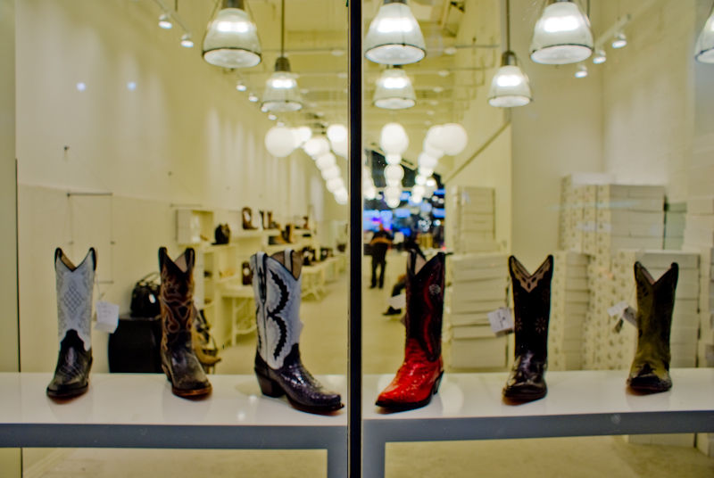 shoes window shopping booths booth