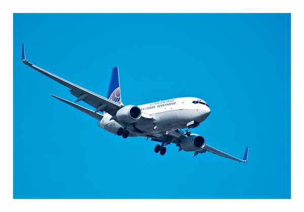 continental, sky, plane, boeing