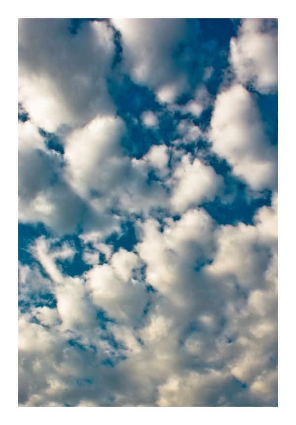 Clouds, white Blue