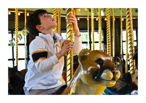 kid boy  carousal Game Play