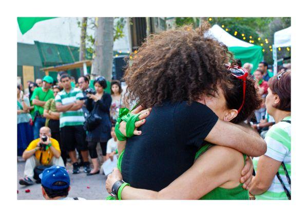 flag, girls, hug, iran, new york, NYC, peace, prot