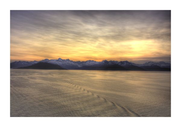 alaska, Cruise, HDR. Sunset