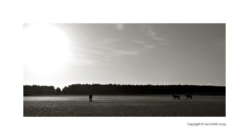 Low winter sun, Holham Beach, Norfolk