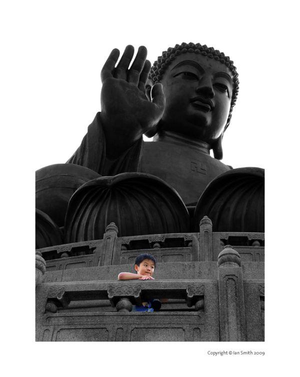 Boy Giant Buddha