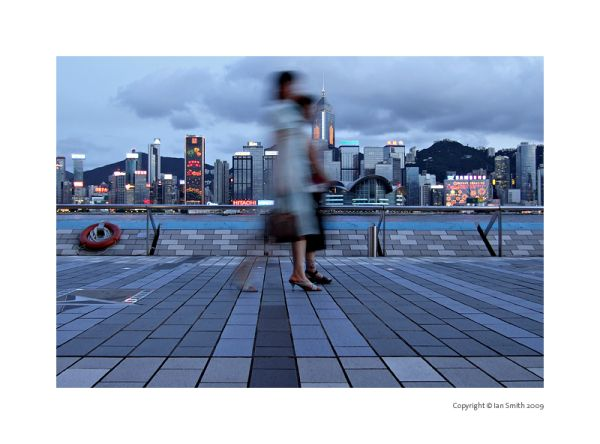 Evening stroll along Victoria Harbour