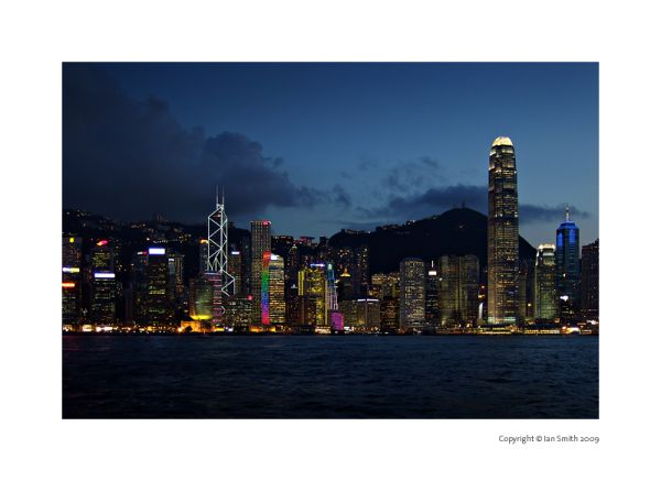 Evening view of Hong Kong Island