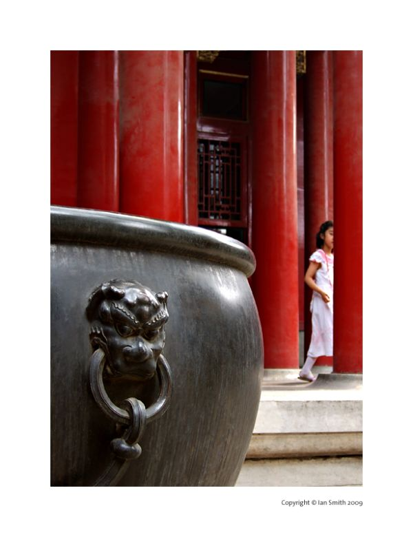girl in the forbidden city, beijing